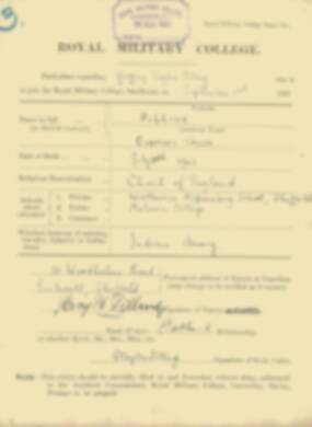 RMC Form 18A Personal Detail Sheets Feb & Sept 1922 Intake - page 113