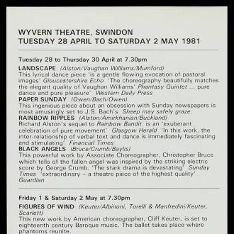 Wyvern Theatre, Swindon, April–May 1981