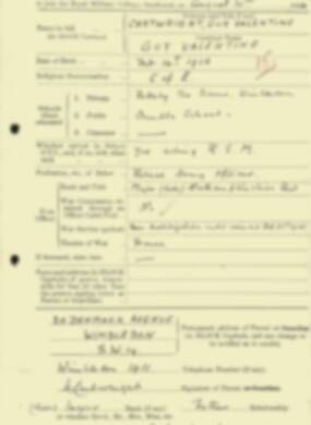 RMC Form 18A Personal Detail Sheets Aug 1934 Intake - page 31