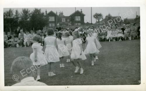 1960's Maypole Country Dancing In School Field (l)