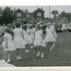 1960's Maypole Country Dancing In School Field (l)