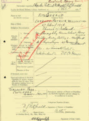 RMC Form 18A Personal Detail Sheets Aug 1935 Intake - page 75