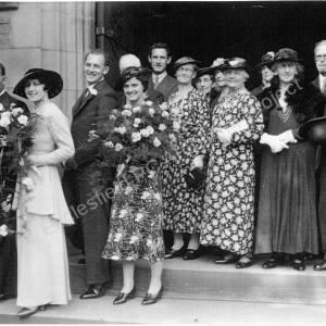 Lee Chambers and Hilda Lodge's wedding, September 1937.