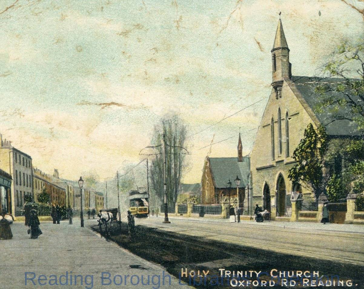 Holy Trinity Church, Oxford Road, Reading, looking west.
