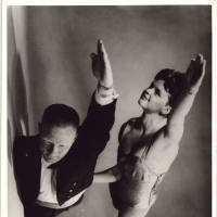 Photograph - two unknown performers