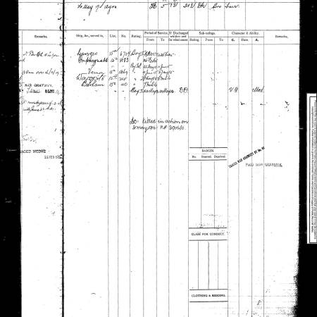 Seaman Service Record - Charles Easter