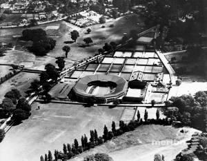 Aerial view of the All England Lawn Tennis Club, Church Road, Wimbledon
