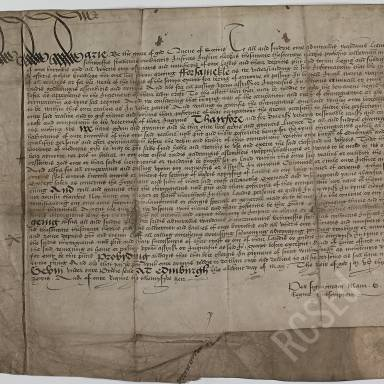 Letters Granted by Mary Queen of Scots to the Surgeons and Barbers Exempting the Bearing of Arms in War