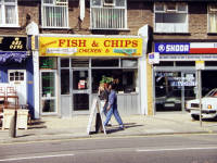 Fair Green, Mitcham: The Modern 'Chippie'.