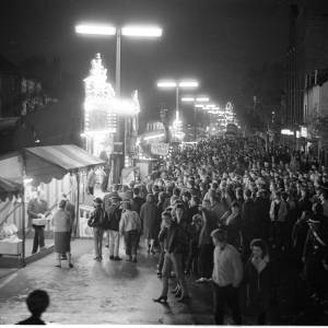 Crowds Enjoy the May Fair, Hereford, 1965