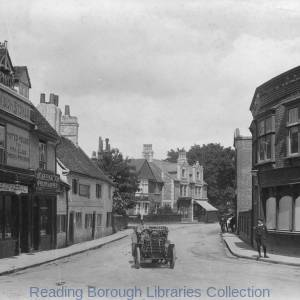 Church Street, Caversham, looking eastwards from the corner of Church Road and Bridge Street (Berry's Corner), 1908