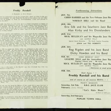 Freddy Randall and his Band, Cooks Ferry Inn, Edmonton - 1951 002
