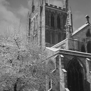 446 - Hereford Cathedral in snow