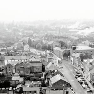 St Nicholas Church, Hereford, aerial view