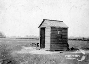Shed placed by Conservators on Mitcham Common
