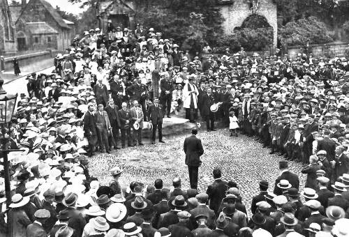 Gathering at Lymm Cross