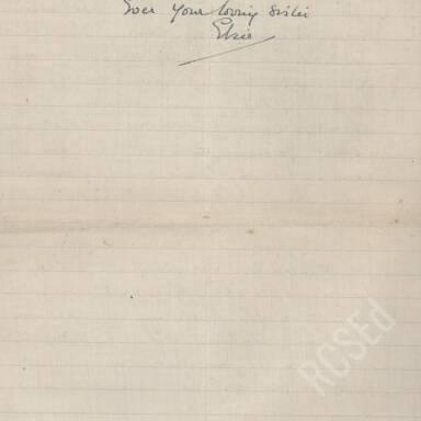 Elsie Inglis to Amy Inglis Simson - En Route to Serbia, April 1915 (Part 6)