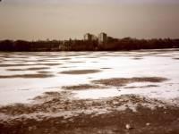 Ice covered lake, Wimbledon Park
