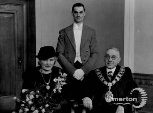 A. Drake, Mayor of Wimbledon and Mayoress Margaret  Roney