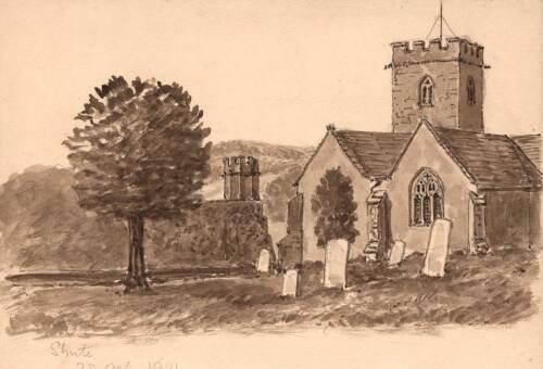Shute Church,  28 October 1901, Shute