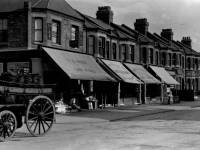 Haydons Road, Wimbledon: Shops and Coal Cart