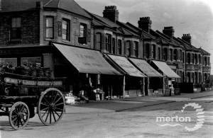 Haydons Road, Wimbledon: Shops and Coal Cart