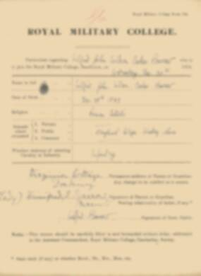 RMC Form 18A Personal Detail Sheets Jan 1915 Intake - page 17