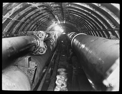 """20"""" & 24"""" main in Tower subway looking north"""