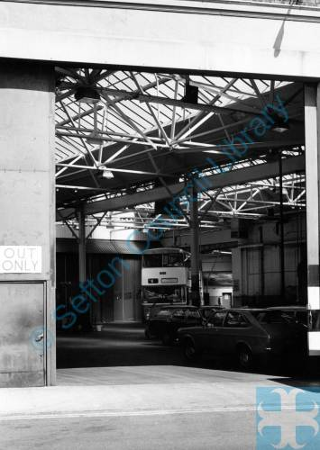 Bus Shed / Depot. Linacre Road, Litherland, 1987