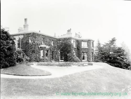 Westhill, Ledbury, home of Major Palairets