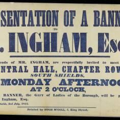 Presentation of a Banner
