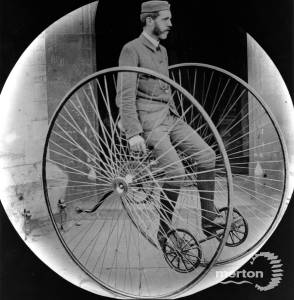Cyclist pictured with an Otto cycle
