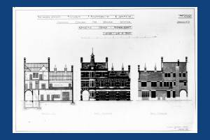 Wimbledon Fire Station, Queens Road: Architectural plans