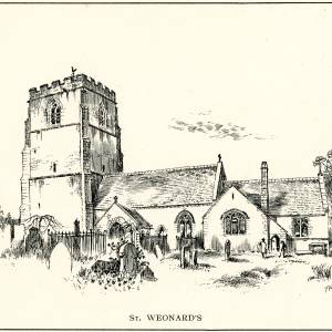 St Weonard's Church, Herefordshire, print
