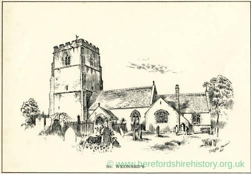 St Weonard's Church, Herefordshire, print