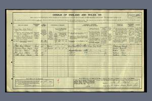 1911 census - 65 Oxford Avenue, Merton