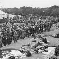 Visitors at the Southport Flower Show in c1945