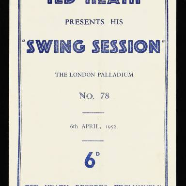 The London Palladium. Ted Heath presents his Swing Session