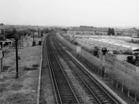 From Sandy Lane footbridge, Mitcham, looking north