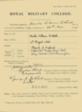 RMC Form 18A Personal Detail Sheets Nov 1915 Intake - page 16