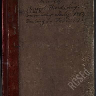 Journal of Surgical Clinical Wards (Syme and Lister), 1854