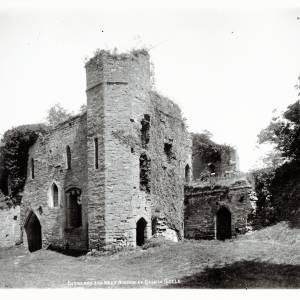 Goodrich Castle, entrance and west window