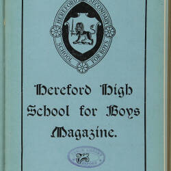 Hereford High School For Boys Magazine Vol 3 No 1_Autumn Term 1916