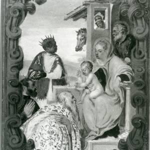 G36-213-07 Painting of Virgin & Child with Joseph and the Magi, in a cartouche.jpg