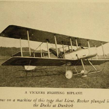 Photo of a Bi-plane that was flown by Harold Rosher