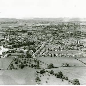 Bartonsham Farm, aerial view, 1933