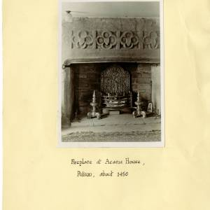 Acacia House, Putson, Hereford, fireplace, 1938
