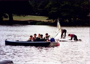 Sailing on the lake at Wimbledon Park
