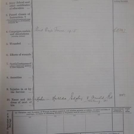 Service Record - Leslie Seymour Edgley