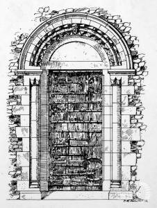 Norman doorway, St Mary's Church, Merton Park